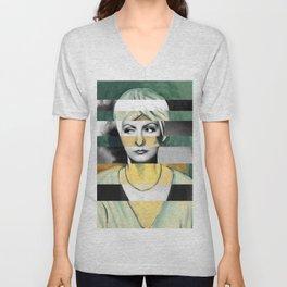 Matisse's Woman with a Turban & Greta Garbo Unisex V-Neck