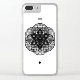 Mesh Geometry II White Clear iPhone Case