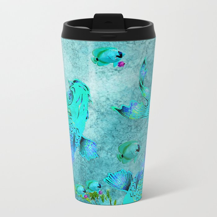 KOI POND ADVENTURE Metal Travel Mug