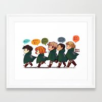 snk Framed Art Prints featuring SNK-Special ops. squad by Mimiblargh