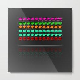 Pixel invaders : Incoming ! Metal Print