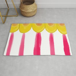 Circus Tent Stripe, Pink and Gold Palette Rug