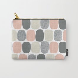 Wonky Ovals in Pink Carry-All Pouch