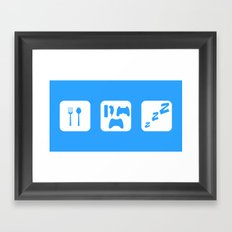 Eat. Game. Sleep Framed Art Print