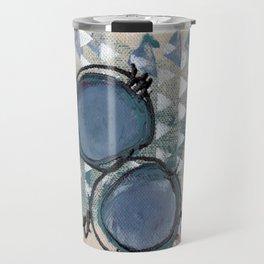 Blue Circles Travel Mug