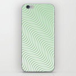 Whiskers Light Green & White #440 iPhone Skin