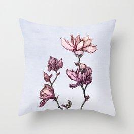Spring Magnolias Throw Pillow