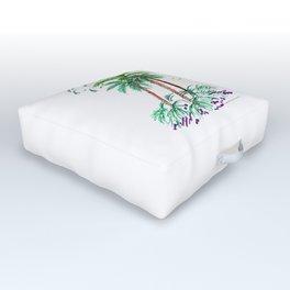 """Triplet Palms"" Outdoor Floor Cushion"