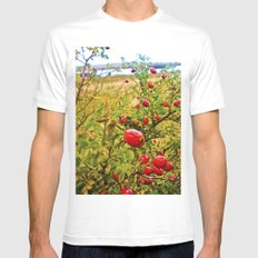 Nature red and green. Mens Fitted Tee White MEDIUM
