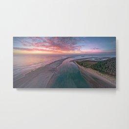 Raven Point Sunrise- Aerial 1, Co. Wexford, Ireland Metal Print