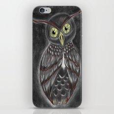 Stylized Owl (Darkened Version) iPhone & iPod Skin