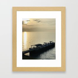 """Painesville Township Pier Sunset"" Photography by Willowcatdesigns Framed Art Print"