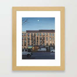 Moon Over 8th Avenue Framed Art Print