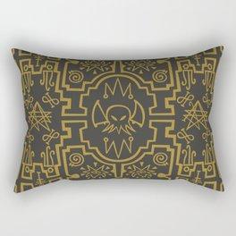 Lovecraftian pattern dark Rectangular Pillow