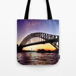 Harbour Bridge Sunset Tote Bag