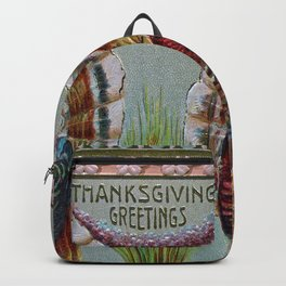 Thanksgiving Greetings 1906 Backpack