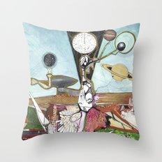 Exploration: Space Age Throw Pillow