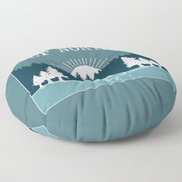 UP NORTH, camping Floor Pillow