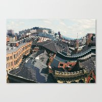 manchester Canvas Prints featuring Manchester by aleenaaa