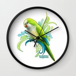 Green Quaker Parrot Wall Clock