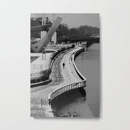 Cold Run, Berges du Rhône, Lyon Metal Print
