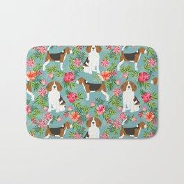 Beagle hawaiian dog pattern tropical pattern cute gifts for dog lover dog breeds Bath Mat