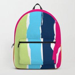 Multicolor stripes background Backpack