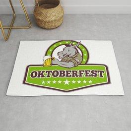 Donkey Beer Drinker Oktoberfest Retro Rug