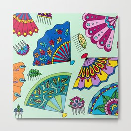 Colorful Fans Metal Print
