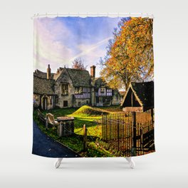Almonry in Autumn Shower Curtain