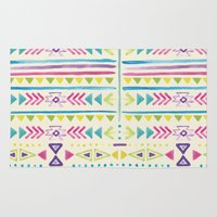 tribal Area & Throw Rugs featuring Tribal by JuanaViEs