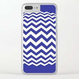 BLUE LINES Abstract Art Clear iPhone Case