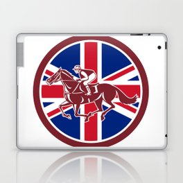 British Jockey Horse Racing Union Jack Flag Laptop & iPad Skin