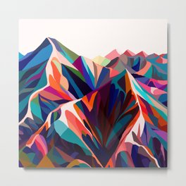 Mountains sunset warm Metal Print