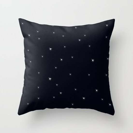 Midnight II Throw Pillow