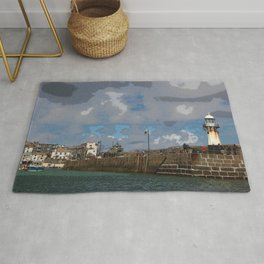 Lighthouse at St Ives, Cornwall, England Rug