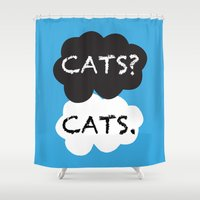 tfios Shower Curtains featuring Cats by bitobots