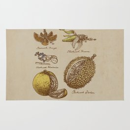 Steampunk Fruit  Rug