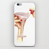 champagne iPhone & iPod Skins featuring Champagne  by SR Illustration & Design
