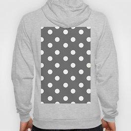Grey Pastel Polka Dots Hoody
