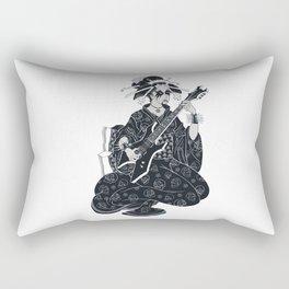 Black Metal Geisha Rectangular Pillow
