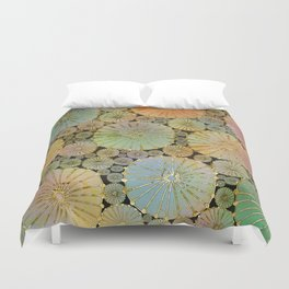 Abstract Floral Circles 2 Duvet Cover