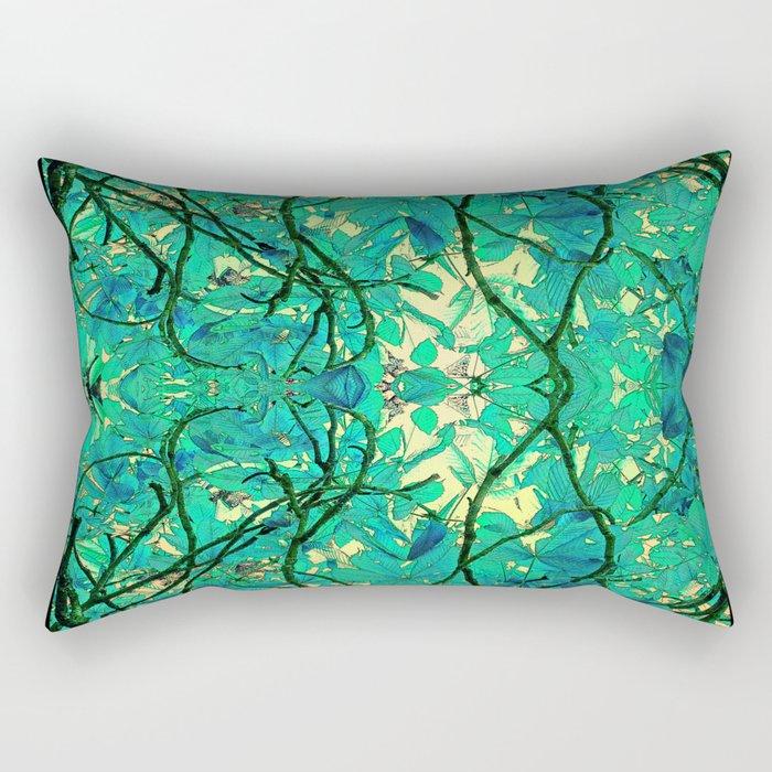CHESTNUT FOLIAGE FANTASY ABSTRACT Rectangular Pillow