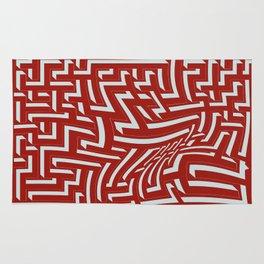 Devastated maze Rug