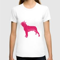 terrier T-shirts featuring Boston Terrier by Three Black Dots