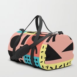 Neo Memphis Pattern 1 - Abstract Geometric / 80s-90s Retro Duffle Bag