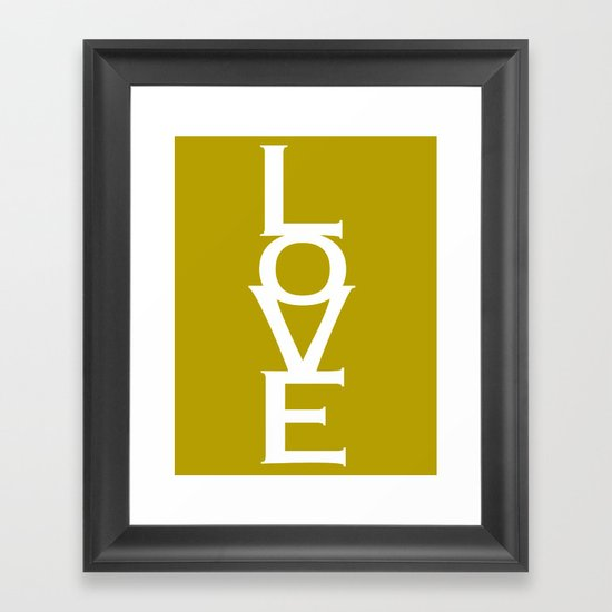 Love (Yellow) Framed Art Print