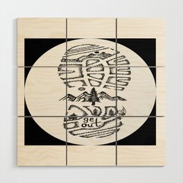 """Tread Lightly""  Hand-Drawn by Dark Mountain Arts Wood Wall Art"