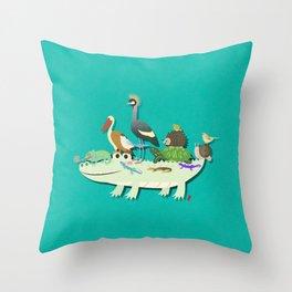 Crocodile Throw Pillow