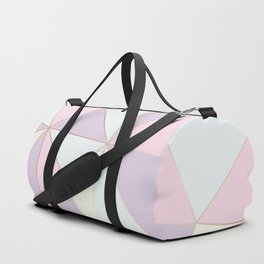 Pastel colors modern geometric triangles pattern Duffle Bag
